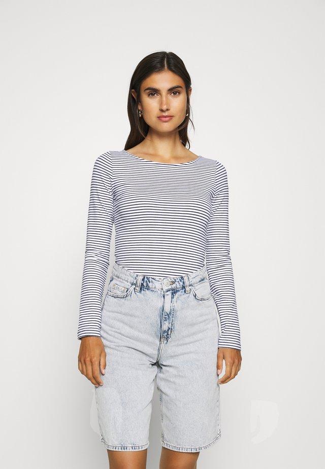 2 PACK - Bluzka z długim rękawem - white/navy