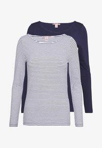 Anna Field - 2 PACK - T-shirt à manches longues - white/navy - 0