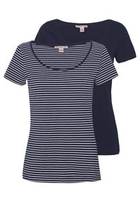 Anna Field - 2 PACK - T-shirts med print - navy/white - 0