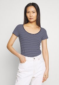 Anna Field - 2 PACK - T-shirts med print - navy/white - 2