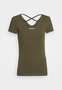 Anna Field - T-shirts med print - olive night - 0