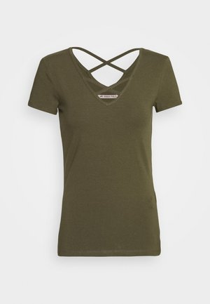 T-Shirt print - olive night