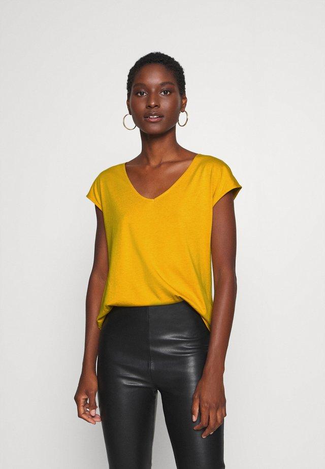 T-Shirt basic - golden yellow