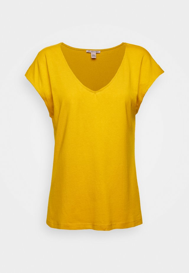 T-shirt basic - golden yellow