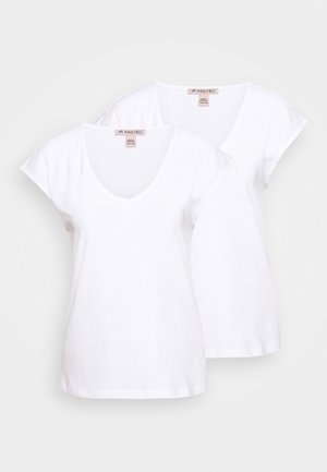 2 PACK - Basic T-shirt - white/white