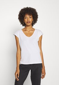 Anna Field - 2 PACK - Basic T-shirt - black/white - 1