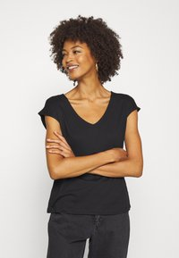 Anna Field - 2 PACK - Basic T-shirt - black/white - 3