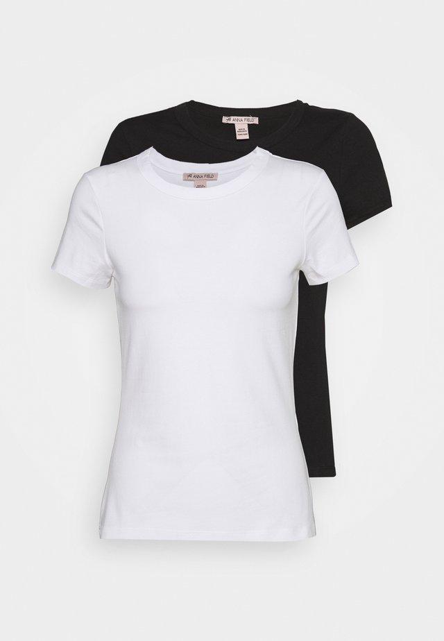 2 PACK - T-shirt - bas - white/black
