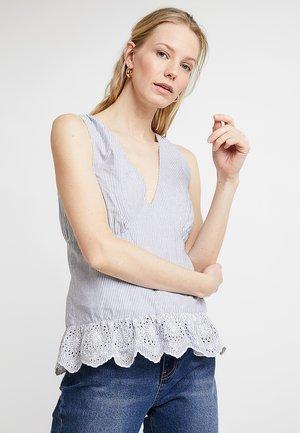 Camicetta - white/light blue
