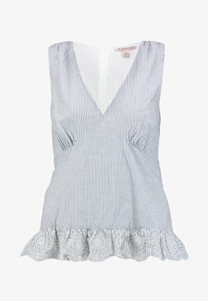 Pusero - white/light blue