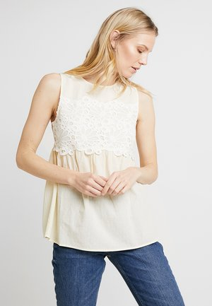 Blouse - white/yellow