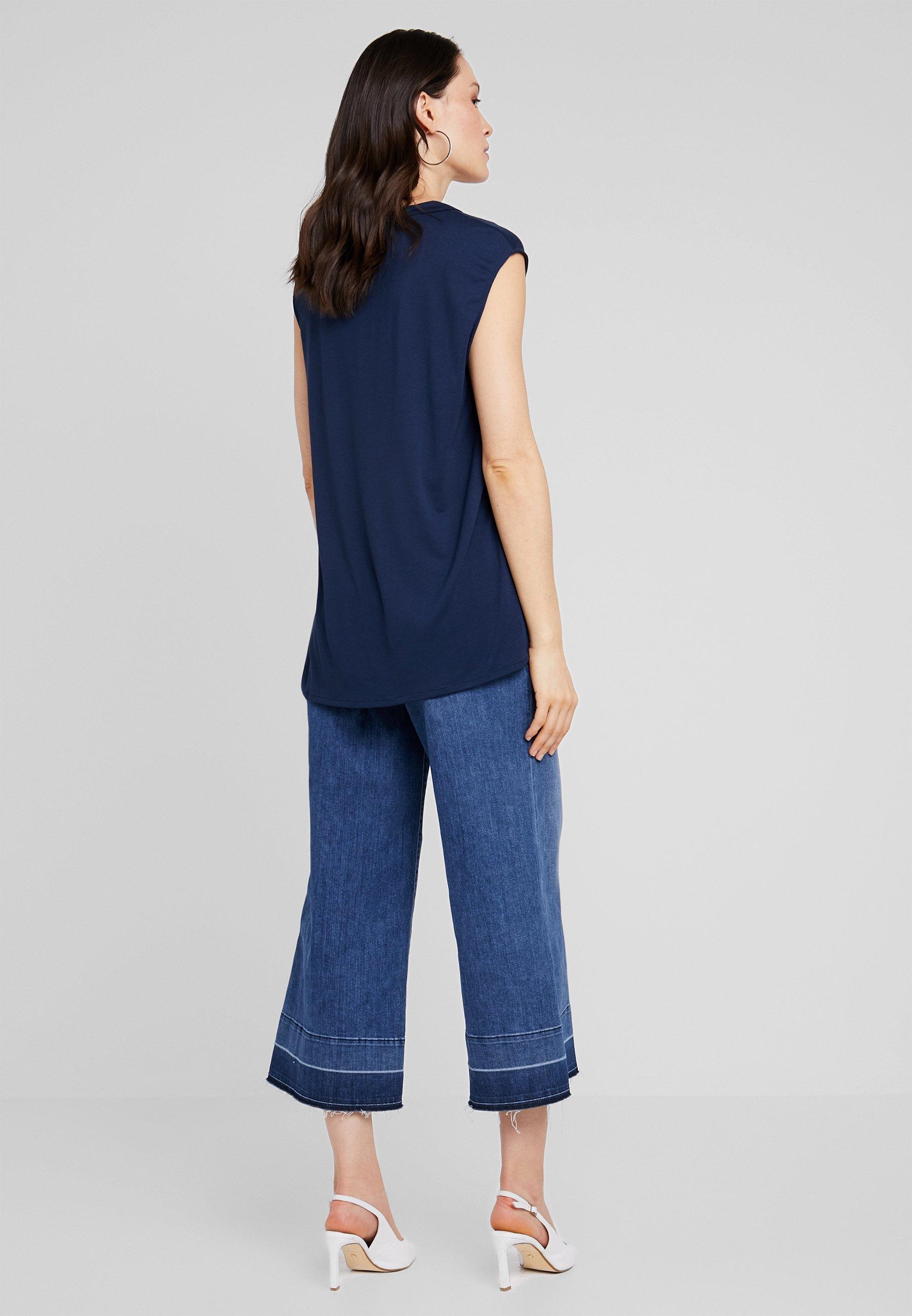 Anna ImpriméMaritime Field Blue shirt T oedxCrB