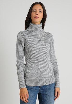 Stickad tröja - mottled light grey