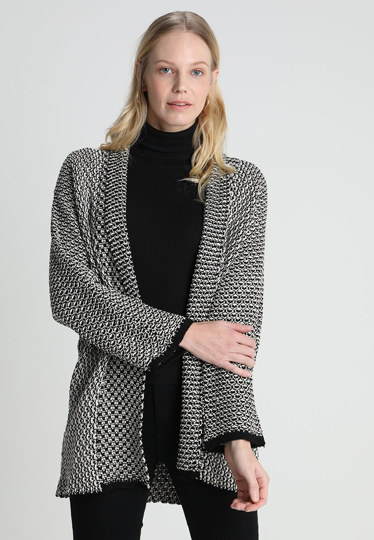 Anna Field - Strickjacke - black/off white