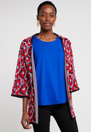 Cardigan - red/blue