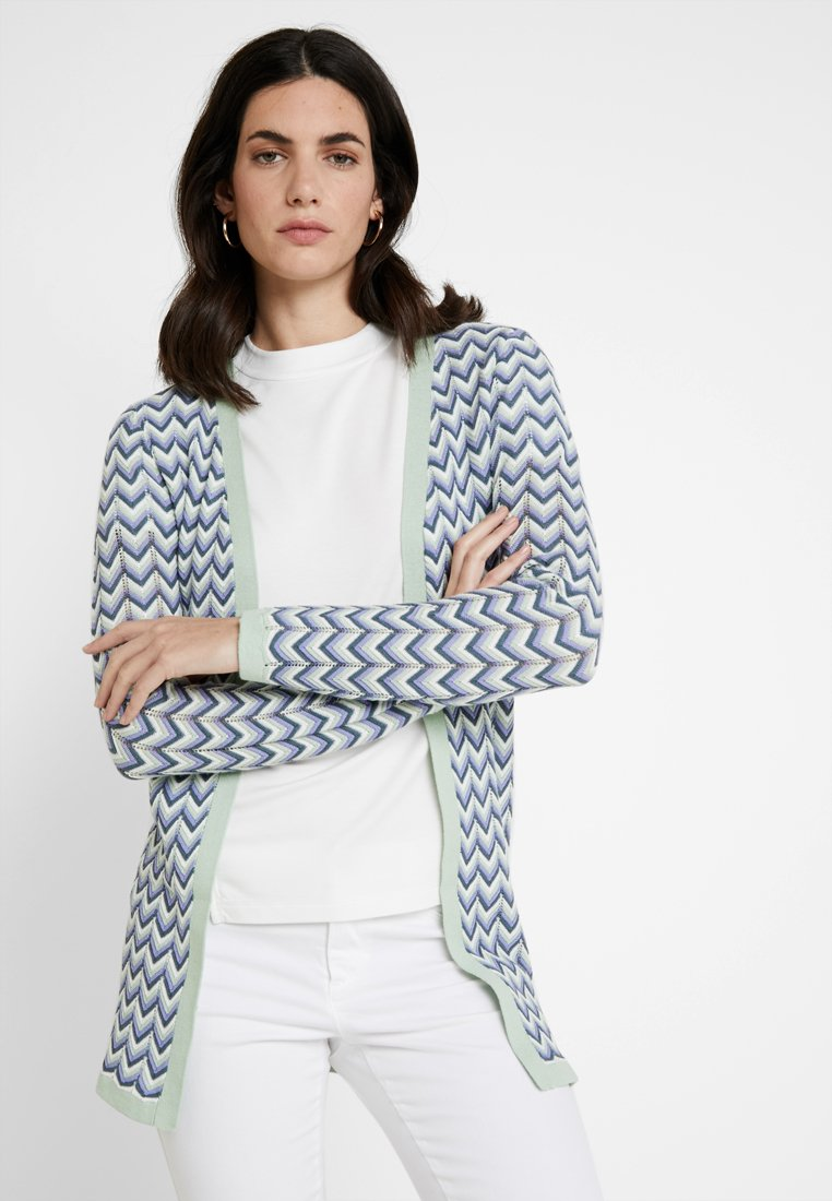 Anna Field - Strickjacke - green/offwhite