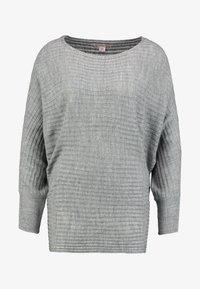 Anna Field - Stickad tröja - mid grey melange - 3