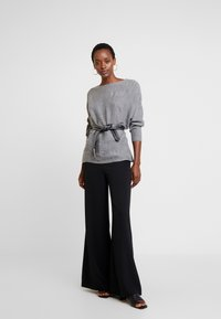 Anna Field - Stickad tröja - mid grey melange - 1