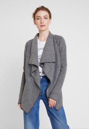 Cardigan - light grey/dark gray