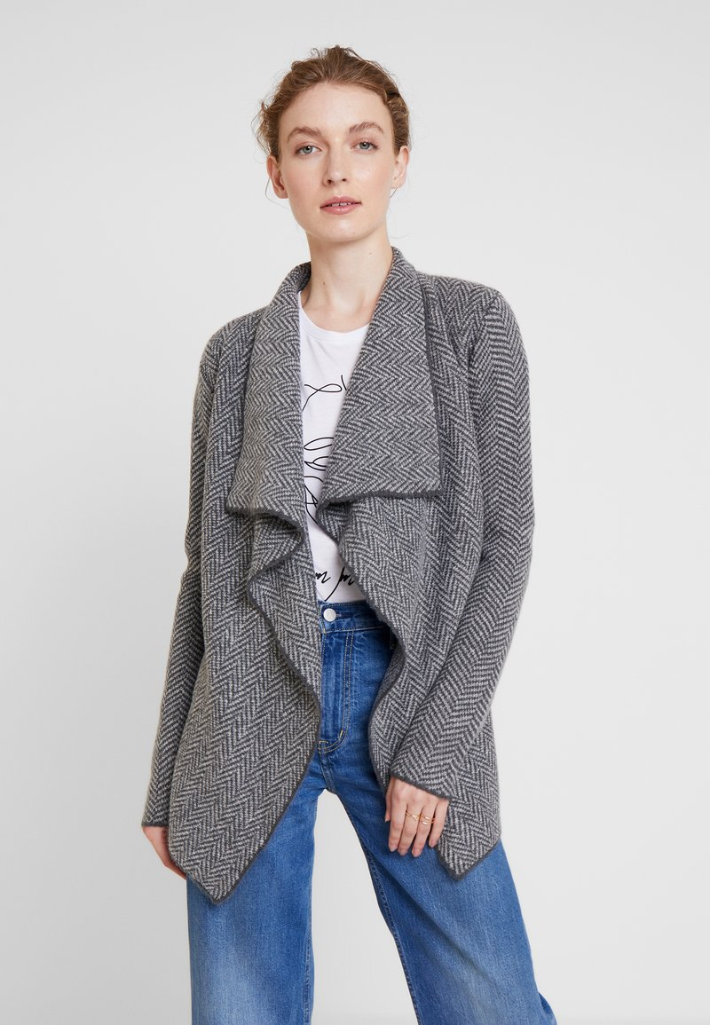 Anna Field - Strickjacke - light grey/dark gray