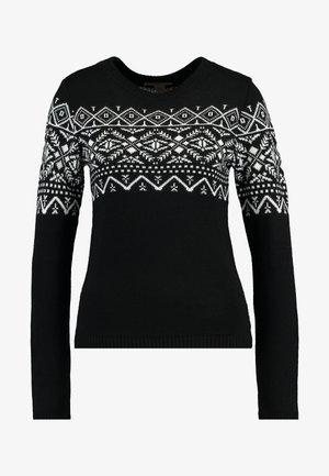 Strickpullover - white/black
