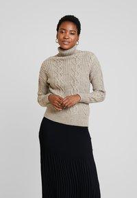 Anna Field - Stickad tröja - taupe - 0