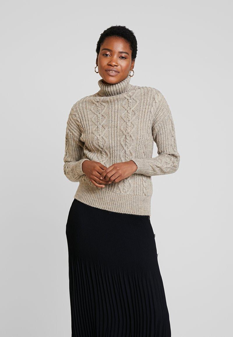 Anna Field - Stickad tröja - taupe