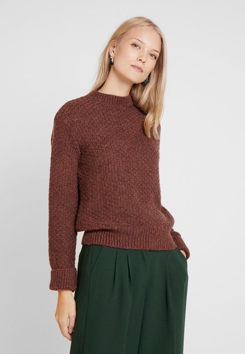 Anna Field - Stickad tröja - brown