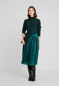 Anna Field - Stickad tröja - dark green - 1