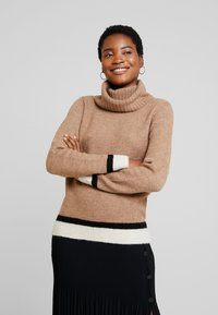Anna Field - Stickad tröja - beige - 0