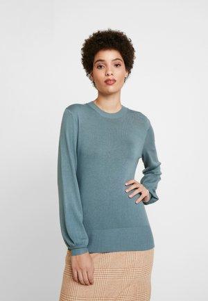 BALLON SLEEVE CREW NECK - Jersey de punto - goblin blue