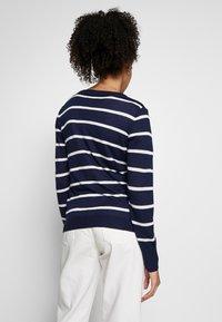Anna Field - STRIPED CARDIGAN  - Cardigan - white/maritime blue - 2