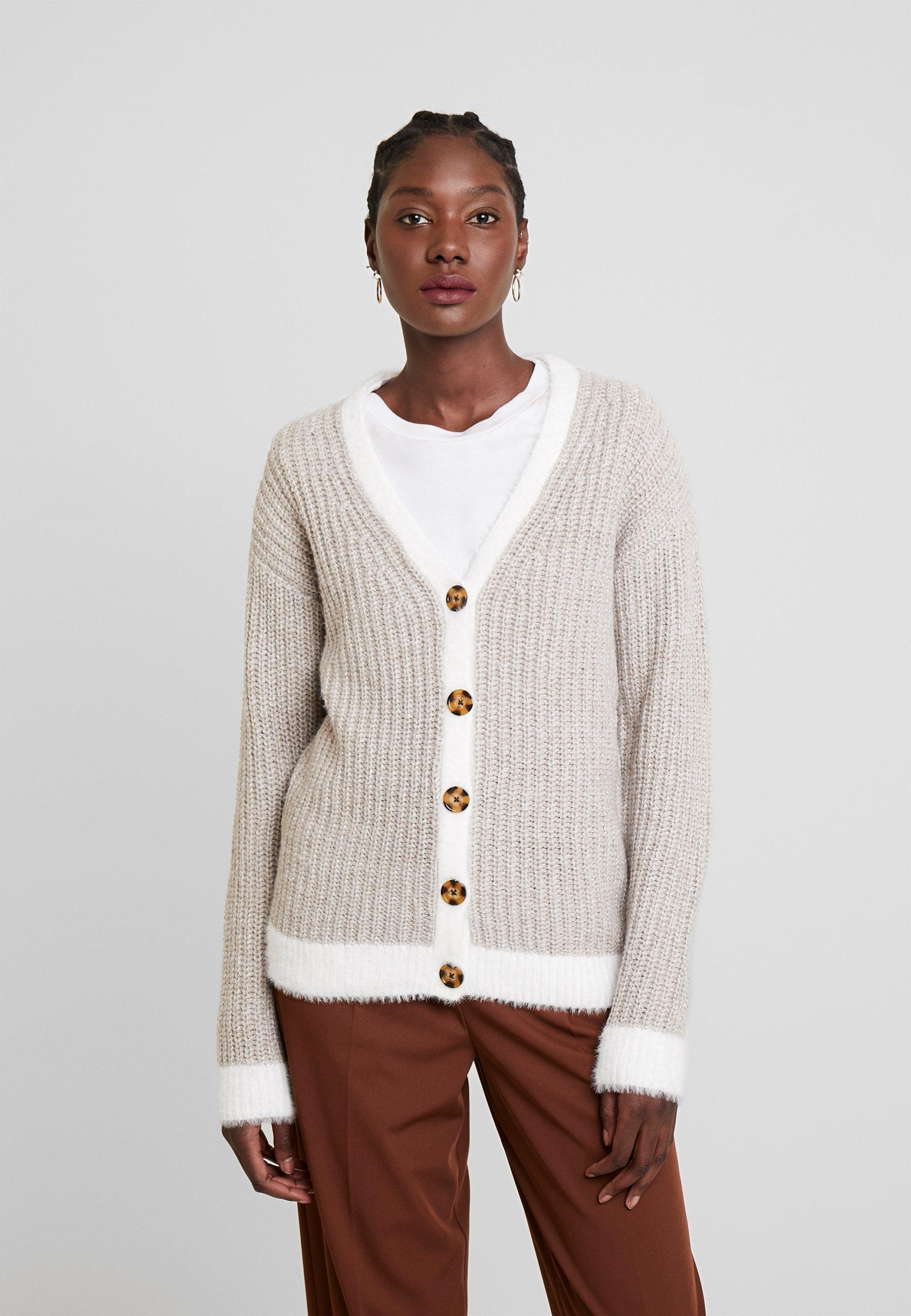Anna Field Cardigan - white/beige