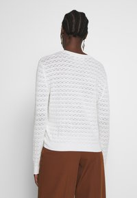 Anna Field - SUSTAINABLE OPENWORK JUMPER  - Strikkegenser - white - 2