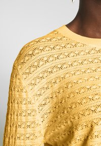Anna Field - SUSTAINABLE OPENWORK JUMPER  - Strikkegenser - yellow - 4