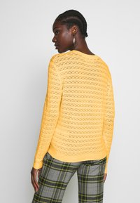 Anna Field - SUSTAINABLE OPENWORK JUMPER  - Strikkegenser - yellow - 2