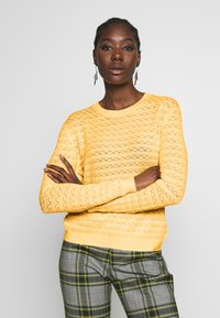 Anna Field - SUSTAINABLE OPENWORK JUMPER  - Strikkegenser - yellow - 0