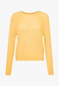 Anna Field - SUSTAINABLE OPENWORK JUMPER  - Strikkegenser - yellow - 3
