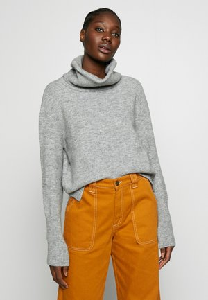 TURTLE NECK JUMPER  - Stickad tröja - grey