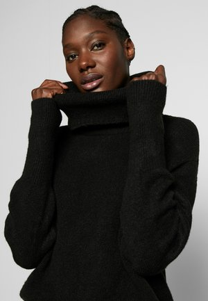 TURTLE NECK JUMPER  - Jersey de punto - black