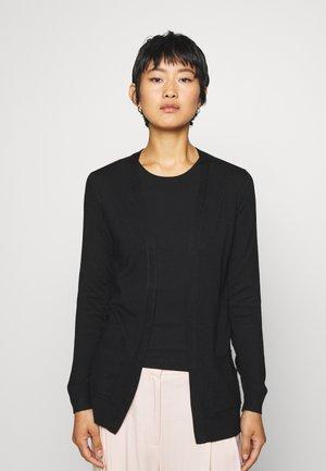 BASIC- Pocket cardigan - Gilet - black