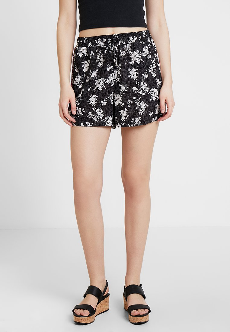 Anna Field - Shorts - black/white/red