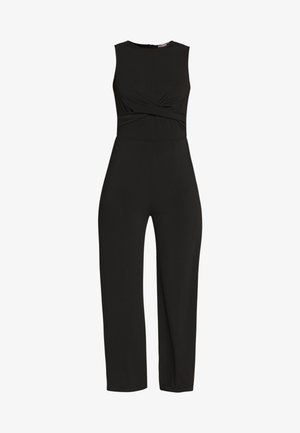 FRONT KNOT SOLID JUMPSUIT  - Overal - black