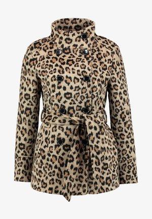 Zimní kabát - camel/black