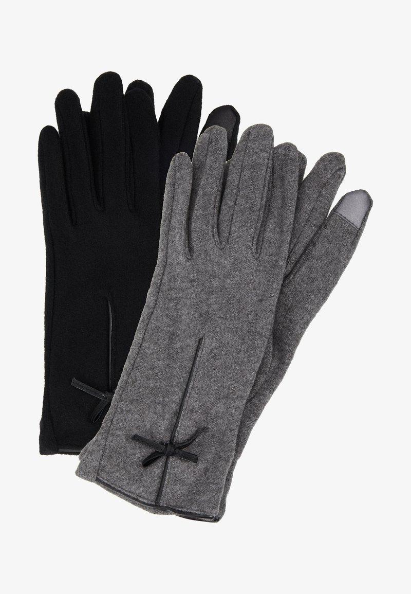 Anna Field - 2 PACK - Rękawiczki pięciopalcowe - black/grey