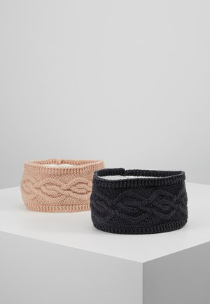 2 PACK - Čelenka - dark grey/rose