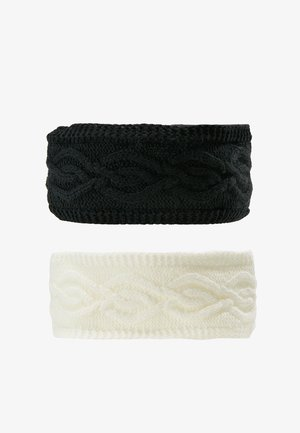 2 PACK - Čelenka - black/off-white