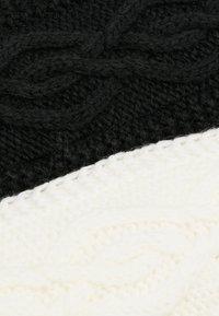Anna Field - 2 PACK - Oorwarmers - black/off-white - 5