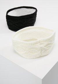 Anna Field - 2 PACK - Oorwarmers - black/off-white - 2