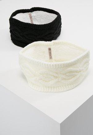 2 PACK - Ohrenwärmer - black/off-white